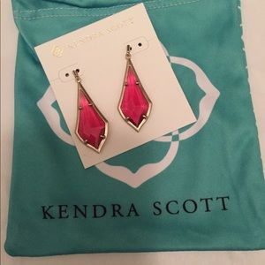 Kendra Scott earrings in berry glass